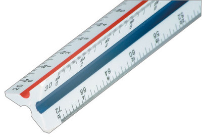 Staedtler 987 1834Bk 12 Engineer Scale Ruler