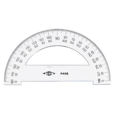 Semicircular Protractor, 6 inches