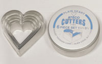 Plain Heart Cutter Set