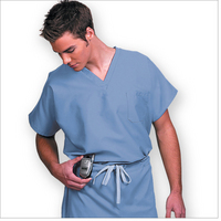 Unisex Ceil Blue Scrub top