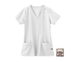 Jockey Mock Wrap Womens Scrub Top
