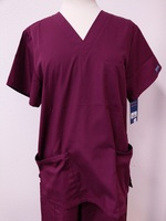 Wine Unisex Scrub Top
