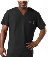 Mens V Neck Top Black