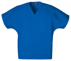 Unisex Vneck Tunic Scrub Top Color Royal Blue