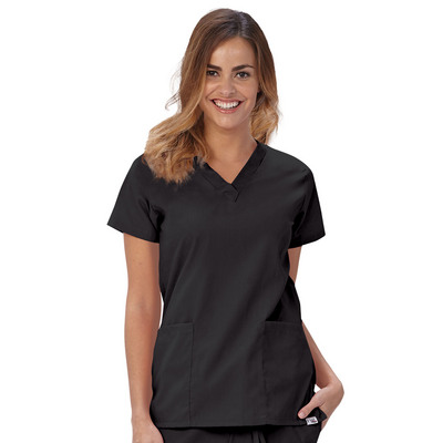 Fashion Seal Healthcare Womens Fashion Poplin VNeck Tunic