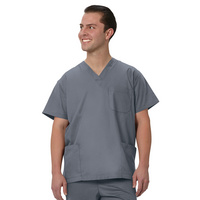 Fashion Seal Healthcare Unisex Fashion Poplin 3 Pocket Scrub Shirt