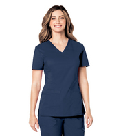 Landau Pre  Washed Womens V  Neck Tunic (Regular Length)