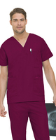 Landau Mens 5 Pocket Scrub Top.  SALON & SPA