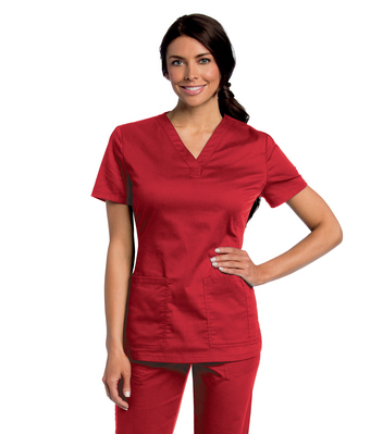 Landau Womens All Day Y  Neck Scrub Tunic (Regular Length)