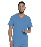 Landau Ripstop Mens Stretch Vneck Top.  Mlt Or Rad Tech Program (Regular Length)