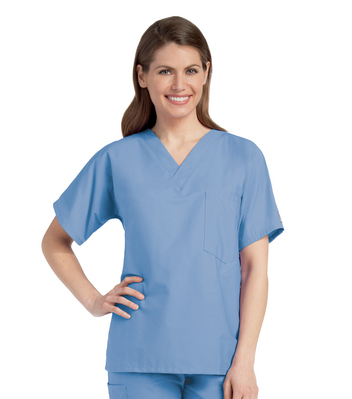 Landau Unisex V  Neck Scrub Top (Regular Length)