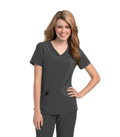 Landau Womens Motivate Vneck Top.  Salon & Spa (Regular Length)