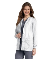 Landau Womens Snap Front Warm  Up Jacket (Regular Length)