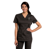 Landau Womens All Day Y  Neck Scrub Tunic