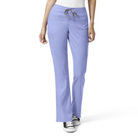 WonderWink PRO Womens Moderate Flare Leg Cargo Scrub Pant 5319 Petite, PreOrder Only