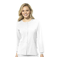 WonderWink W23 Womens Crew Neck Warm Up Scrub Jacket 8155