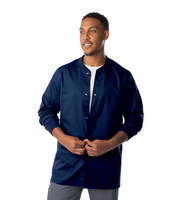 LANDAU MENS WARMUP WITH KNIT COLLAR AND CUFFS