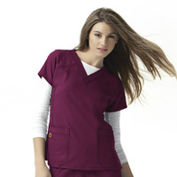 WonderWink FFX Womens Sporty VNeck Scrub Top, 6214