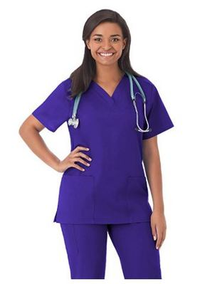 Ladies V Neck Scrub Top