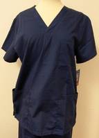 Navy Unisex Scrub Top