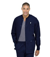 Mens Warmup Embroidered Jacket, Navy