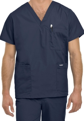 LANDAU  MENS 5POCKET SCRUB TOP