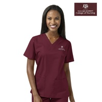WonderWink TAMUCON Womens VNeck Scrub Top, 101TAM3