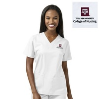 TAMUCON Womens VNeck Scrub Top