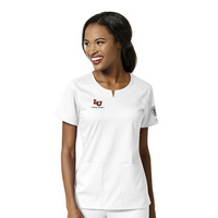 WonderWink Nursing Student Personalized PRO Womens 4 Pocket Notch Neck Scrub Top, 6419LIB1