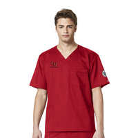WonderWink Nursing Faculty Personalized WWK Mens Vneck Scrub Top, 103LIB2