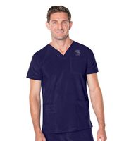 Landau  Mens V Neck 4 Pocket Top