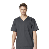 WonderWink Nursing WWK Mens Vneck Scrub Top, 103SFC1