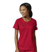 WonderWink Lab Coordinator Personalized PRO Womens 4 Pocket Notch Neck Scrub Top, 6419LIB4