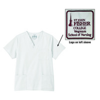 Unisex Scrub Top with Logo