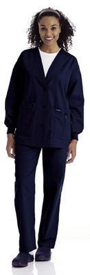 Landau Womens Cardigan Warm  Up Jacket (Regular Length)