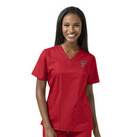 WonderWink Collegiate WWK Womens VNeck Scrub Top, 101TT