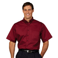 Fashion Seal Healthcare Mens Fine Line Twill Short Sleeve Shirt