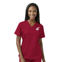 WonderWink Collegiate Womens Vneck Scrub Top,101AWAST1