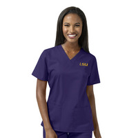 WonderWink Collegiate Womens Vneck Scrub Top,101ALSU1