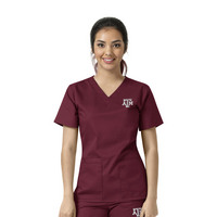 WonderWink Collegiate Womens Vneck Scrub Top,101ATAM01