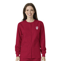 WonderWink Collegiate Unisex Snap Front Warm Up Scrub Jacket, 800IND1
