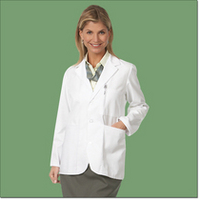 Unisex Consultation Jacket, 65/35 FLT, White, 3XL