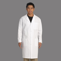 Fashion Seal Healthcare Mens 6535 Poplin 41 Lab Coat