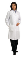 Fashion Seal Healthcare Unisex 8020 Poplin 41 Snap Front Lab Coat
