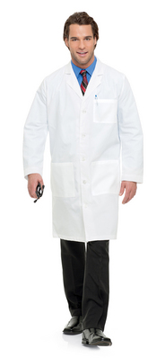 Landau Mens Full Length Lab Coat (Regular Length)
