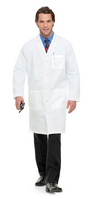 Landau Mens Full Length Lab Coat