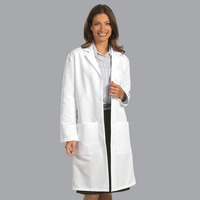 "Unisex 80/20 Poplin Lab Coat, 41"", White, 2XL"