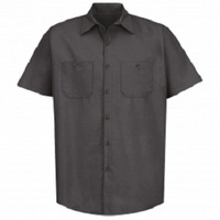 Automotive Charcoal Regular Short Sleeve Shop Shirt
