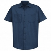 Diesel Navy Regular Short Sleeve Shop Shirt
