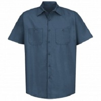 Agricultural Equipment Dark Blue Regular Short Sleeve Shop Shirt